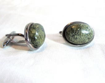Serpentine Gemstone Cufflinks