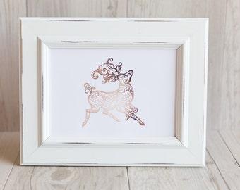 Reindeer Foil Print