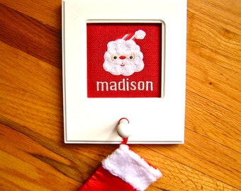 Christmas stocking hanger, Childs name hook, Stocking holder, Personalized stocking holder, Child's name Stocking peg