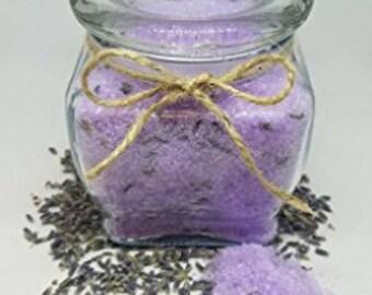 Deluxe Soothing & Relaxing Lavender Essential Oil Bath Salt Mineral Soak