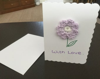 With Love Flower card