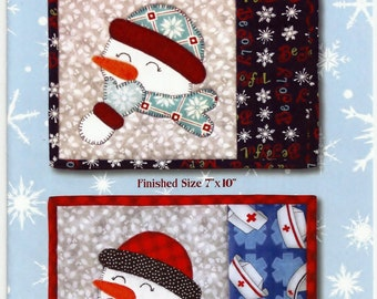 Download - Joyful Snowman Mug Rug Pattern