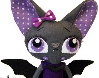 Bat doll Vampire felt doll Halloween decoration BATLENTINA