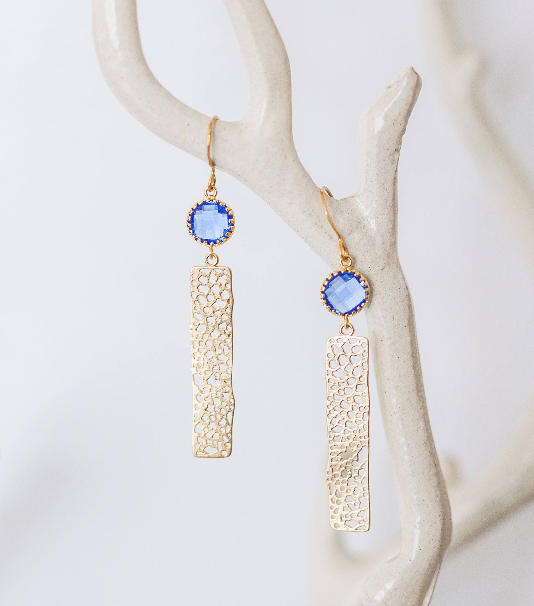 cobalt burnmarkny moonstone long earrings products tassel burnmark