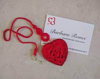 Bookmark Valentine Love Valentine Crochet Heart Bookmark
