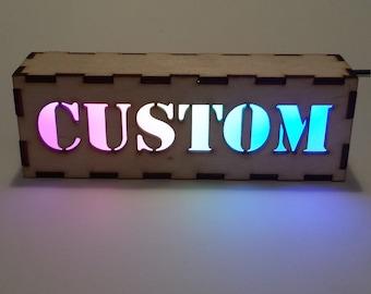Custom Word Light Box