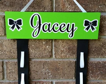 Custom Cheer Bow holder- choice of color and name