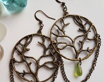 Tree of Life Dangle Earrings, Tree Dangle Earrings, Tree Earrings