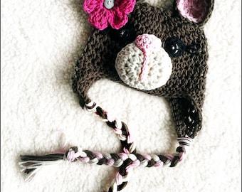 Crochet Baby Bear Hat Beanie - Photo Prop - Sizes Newborn, baby, toddler, teen. Design by AngelsChest
