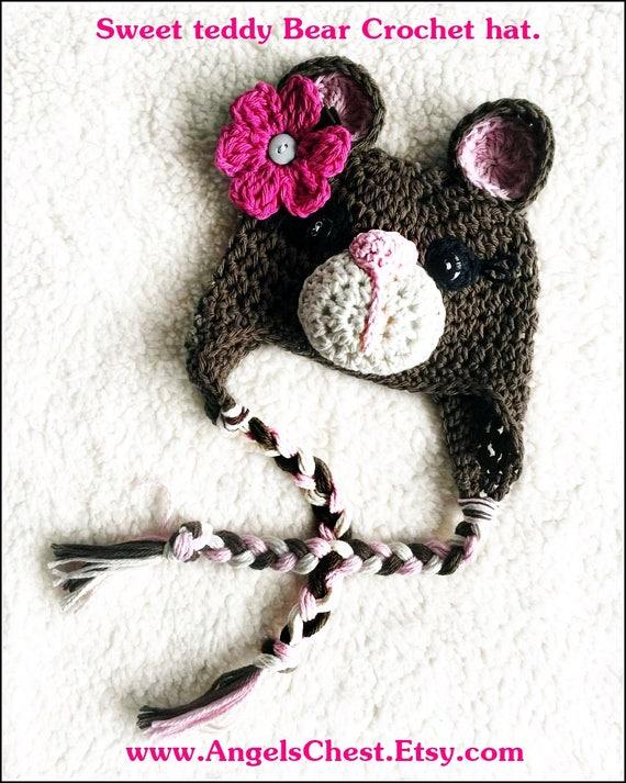 Crochet bebé oso gorro Beanie foto Prop tamaños recién