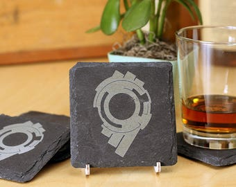 Ghost in the Shell - Premium Natural Slate Coasters