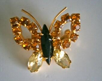 Butterfly Brooch Rhinestone