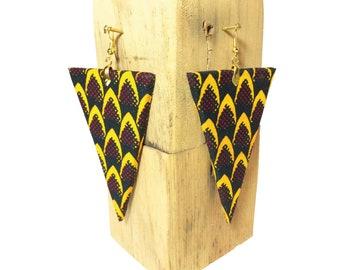 Wax 88 triangle earrings