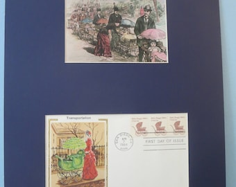 Honoring the Introduction of Baby Carriages & First Day Cover of its own stamp
