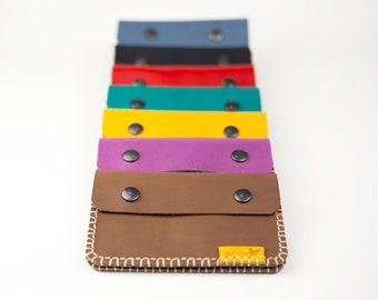 Brown leather wallet, Big leather wallet, Urban wallet, Woman wallet, Practical wallet, Organized wallet, Original wallet