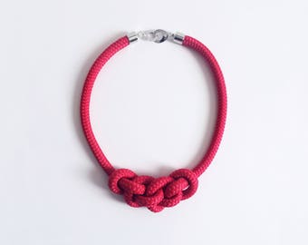 String Necklace red color