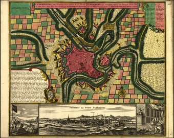Poster, Many Sizes Available; Map Of Luxembourg 1730