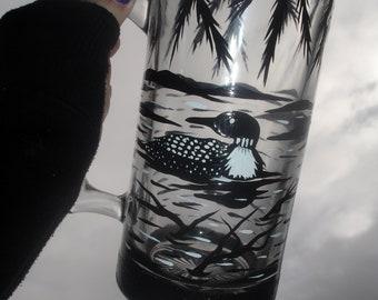 Loon beer mug