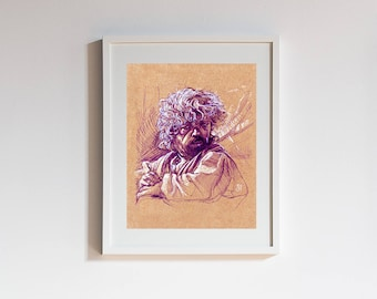 GAME of THRONES Tyrion Lannister Art Print - Gift for Him, Gift for Her, Peter Dinklage, Wall Art, Gift for Home, Fantasy, Home Decor
