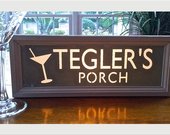 Bar Sign that Light's Up, Personalized, Deck, Porch, Beach, New Home, Unique Gift, Mother's Day,