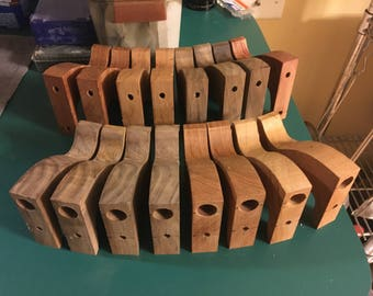 Partially completed Stanley hand plane tote replacement, no 5-8 tote, various woods - Ready to shape - (US and Canada)