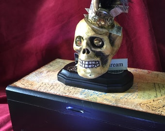 Original Steampunk Box Imagine Dream Skull, Box and Mini Box -OOAK  E Edwards