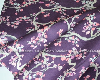 Enchanted Leaves Plum, Wonderland by Katarina Roccella, Designed Cotton Fabric, Quilting Weight prints