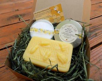 Organic Spa Box, Organic Soap Set, Spa Gift Set, Organic Gifts, Lotion Bar, Beauty Gift Set, Bath Gift for Mom, Soap Gift Set, Spa Kit