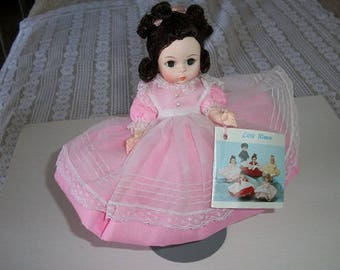 Vintage Adorable Madame Alexander Doll Alexander-Kins with Booklet and Stand in Box Beth from Little Women