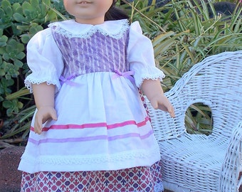Handmade Doll Dress 18 inch doll dress Purple and lavender doll dress