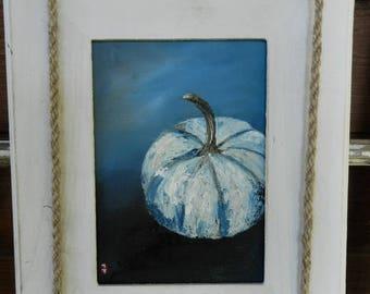 Pumpkin oil painting,Pumpkin decor,Fall decor,Halloween decor,Thanksgiving decor,Autumn decor,Fall decoration,Halloween art,Pumpkin wall art