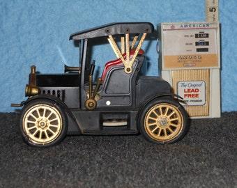 Antique 2 AM Transistor Radios, Amoco Gas Station Pump/ Ford Motel T Car