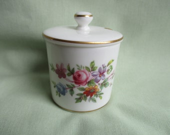 Minton / Marlow pattern / Bone china / Made in England / Floral decoration / Mustard pot