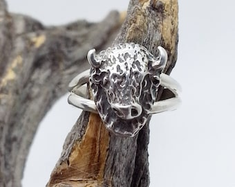 Sterling Silver Buffalo Ring