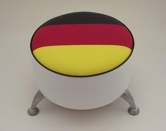 German Flag footstool