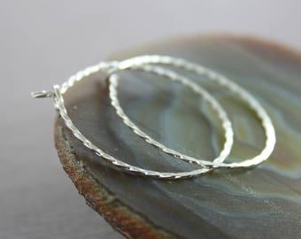 Twisted hoop sterling silver earrings - Hoop earrings - Trendy earrings - Circle earrings - Round earrings - Minimalist earrings - ER109