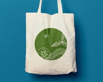 Tote bag en coton, sac en toile, sac femme, sac main, sac course, sac cabas, sérigraphie, cadeau pour femme