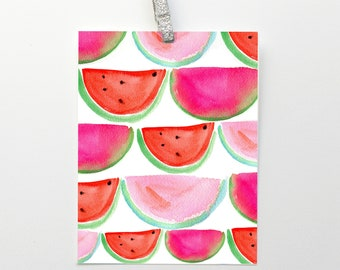 Watermelons Art Print: Watercolor