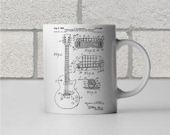 Gibson Les Paul McCarty Guitar Patent Art Mug, Gibson Mug, Les Paul Mug, Guitar Mug, Les Paul Guitar, Guitarist, Guitar Teacher