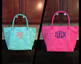 Monogrammed Mint and Pink Purse     As of April 8 I Have 2 Pink and 0 Mint Left In Stock