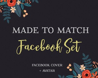 Made to Match your Purchase-Facebook Timeline Cover Set Design