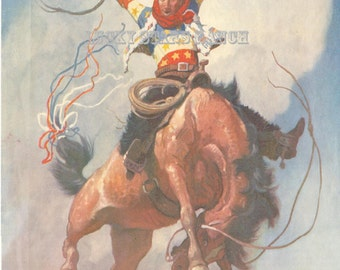 Cowboy Rodeo Poster Bakersfield Ca Vintage Rodeo Print 18x24