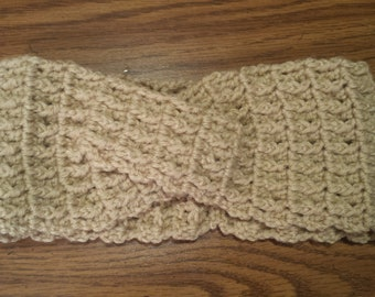 Crocheted Twisted Ear Warmer/Headband