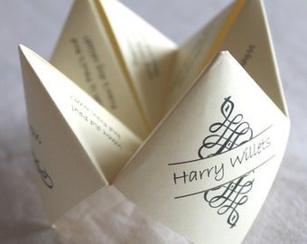 15 Personalised Wedding Favours Fortune Tellers