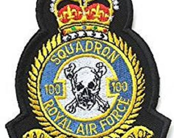 RAF No.100 Squadron Royal Air Force Military Embroidered Patch