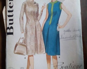 """1960s Dress - 34"""" Bust - Butterick 2800 - Vintage Retro Sewing Pattern"""
