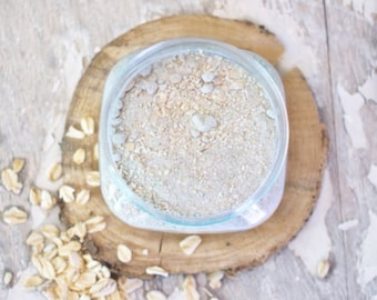 Oat Face Mask - Facial Mask - Clay Mask - Sensitive Face Mask - Natural Face Mask - Vegan Face Mask - Organic Face Mask - Gift for Her