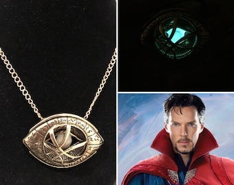 Doctor Strange Necklace, eye of agamotto amulet necklace, perfect gift for any doctor strange fan, doctor strange costume