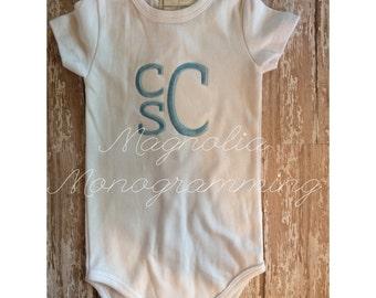 Baby Boy Monogrammed Bodysuit, Baby Monogram Bodysuit, Baby Newborn Outfit, Baby Monogram Outfit, Newborn Baby Outfit, Baby Bodysuit