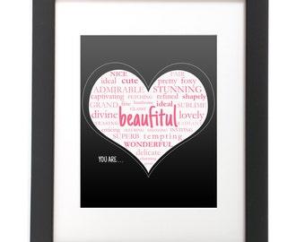 Motivational Sign - Inspirational Sign - Digital Print - Beautiful - Frame Print - Typography - Office Decor - Wall Art - Printable File